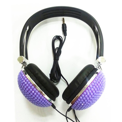 Bling Overhead Headphones With Plastic Headband