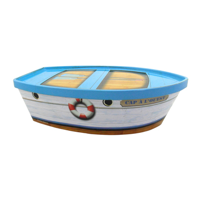 Boat Shaped Tin Box For Candy