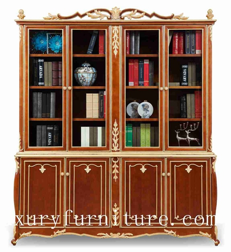 Book Cases Cabinet Solid Wood Shelf Chia Supplier Italy Style Fbs 138