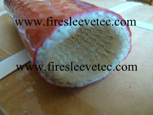 Braided Fiberglass Coated Silicone Rubber Fire Resistant Sleeve