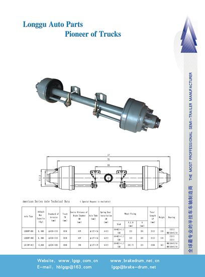 Brake Drum Wheel Hub Axle Bogie Air Suspension Subassembly Mechanical Shoe Disc