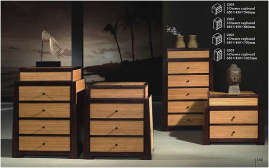 Brand New Four Chests Of Drawers In Bamboo