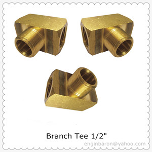 Brass Branch Tee 1 2 Fnpt X Mnpt 1200 Psi Free Shipping 200pcs Lot 36 3kg