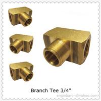 Brass Branch Tee 3 4 Fnpt X Mnpt 1200 Psi 200pcs Lot 59kg