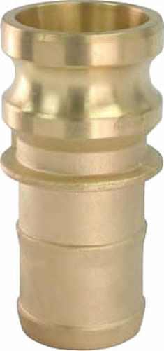 Brass Camlock Adapter Part E Male By Hose Shank