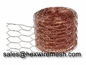 Brass Copper Hexagonal Wire Mesh