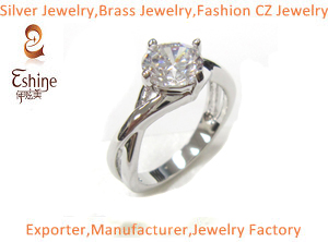Brass Cz Jewelry Ring In Diamond Design Wedding