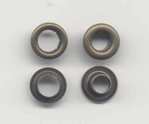 Brass Eyelets With Neck Washer 10mm O D