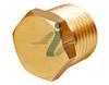 Brass Hex Plug Tee Elbow