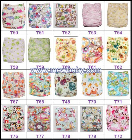 Breathable Baby Diapers Washable Printed Cloth Nappies