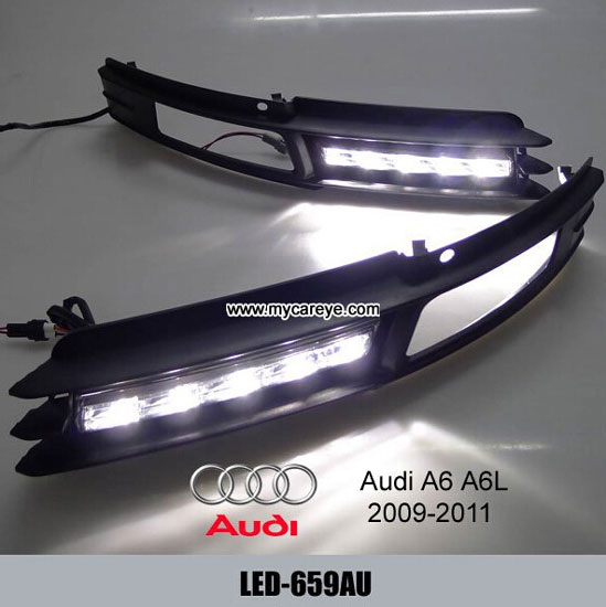 Bright White Led Drl Daytime Fog Light Run Signal Lamp For Audi A6 A6l