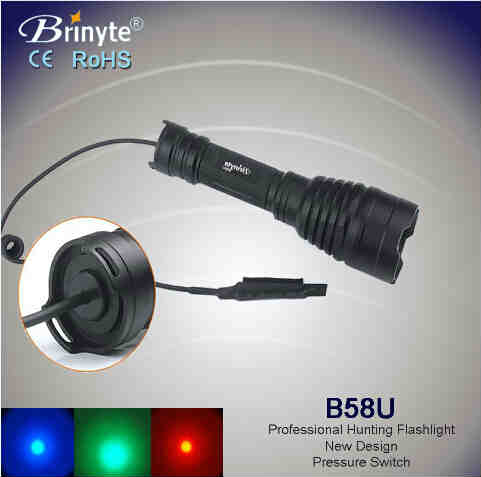 Brinyte Cree Rechargeable Waterproof Tactical Hunting Torch
