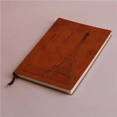 Brown Pu Cover Paper A5 Size Notebook China Factory