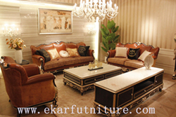 Brown Sofa Leather Antique Ff 109
