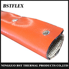 Bstflex Silicone Fiberglass Fire Sleeve With Metal Snap