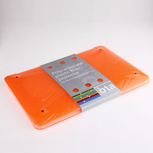 Bta Ultra Thin Limpid Polycarbonate Plastic Protector Shell Cases For 11 Inch Macbook Air Orange