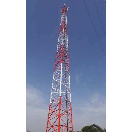 Bts Site Telecommunication Steel Tower