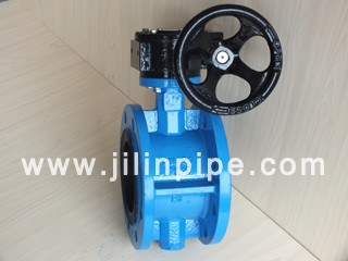 Butterfly Valve Flange Type Turbine Driven
