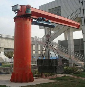 Bzd Model Column Swing Lever Crane With Electric Hoist Jib Bz