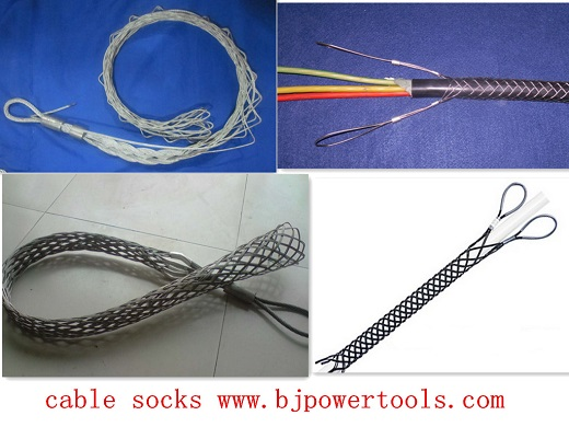 Cable Grip Connector For Socks Wire Mesh Grips