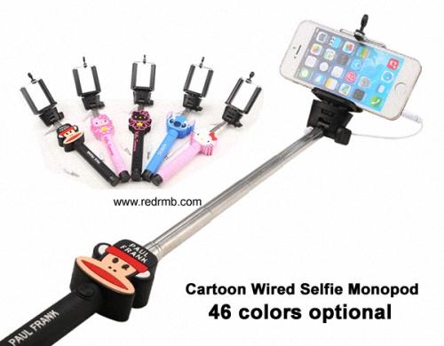 Camera Phone Handheld Cartoon Monopod Mickey Minnie Selfie Stick Telescopic Stand Holder For Iphone