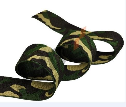 Camouflage Jacquard Elastic Webbing Amry Camo