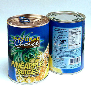 Canned Pineapples Standard Slices