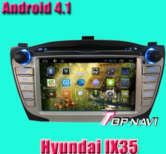 Car Dvd For Hyundai Ix35 Android System With 4 1 Version A9 Dual Core 1ghz Cpu Processor And Ddr3 1g