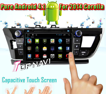 Car Dvd Player Special For Toyota Corolla 2014 With Android 4 1 System