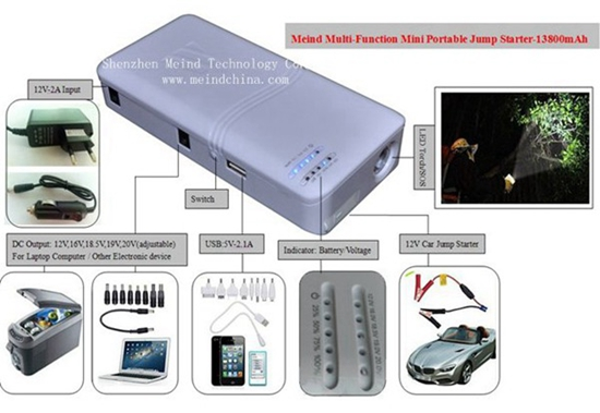 Car Jump Starter Multifunction Battery Charger Portable Phone Usb Power Bank Laptop External Recharg