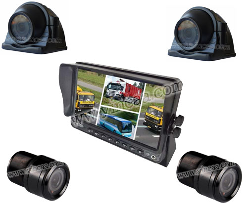 Car Rear View Quad Monitor System