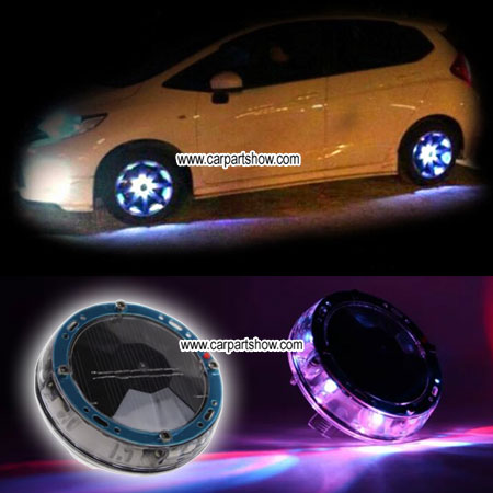 Car Solar Charging Colorful Wheel Lights Aftermarket Led Light Seven Color 2066cw