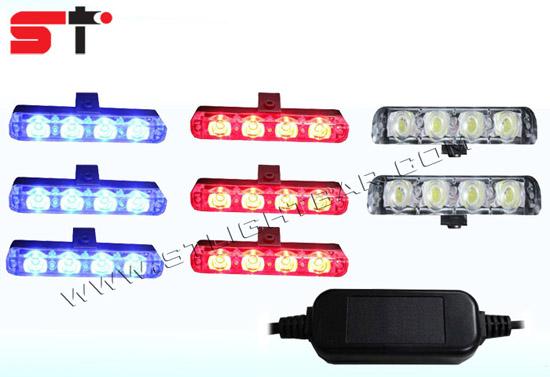 Car Truck Police Dash Deck Led Strobe Light Kit