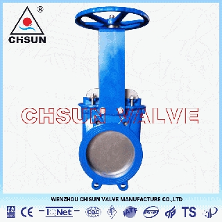 Cast Iron Knife Gate Valve For Petrochemical Waste Water Treatment