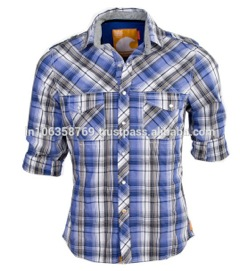 Casual Shirt For Men In Blue Checks