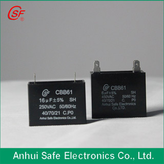 Ceiling Fan Capacitor Cbb61 Sh With Hig Voltage