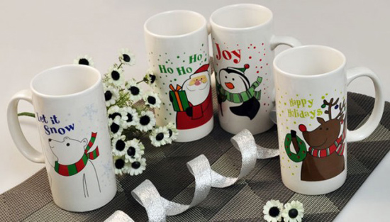 Ceramic Mug Promotion Gift Happy Holidays