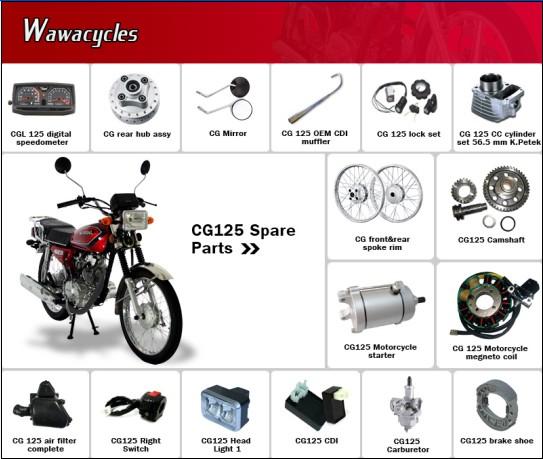 Cg125 Motorcycle Spare Parts