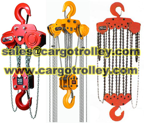 Chain Pulley Blocks Lifting Heavy Duty Equipments Easily