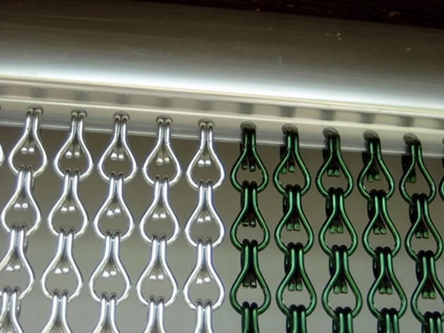 Chainmail Curtain With Rings For Straight Curved And Round Curtains