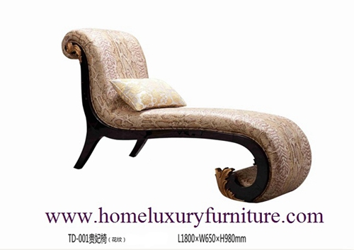 Chaise Lounge Living Room Furniture Classic Fabric Td 001