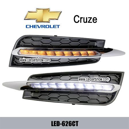 Chevrolet Cruze Drl Led Daytime Running Lights Turn Light Steering Lamp Car Headlights Parts Fog Cov