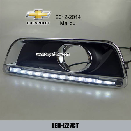 Chevrolet Malibu Drl Led Daytime Running Lights Car Headlights Parts Fog Lamp Cover 627ct