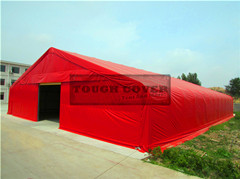 China 25m Wide Clearspan Tension Fabric Buildings Structures