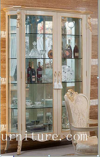 China Cabinet Displays For Sell Antique Bowed Fj 101a