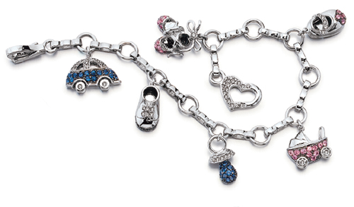 China Factory Outlet 925 Sterling Silver Cz Bracelet With Stones And Cartoon Accessory