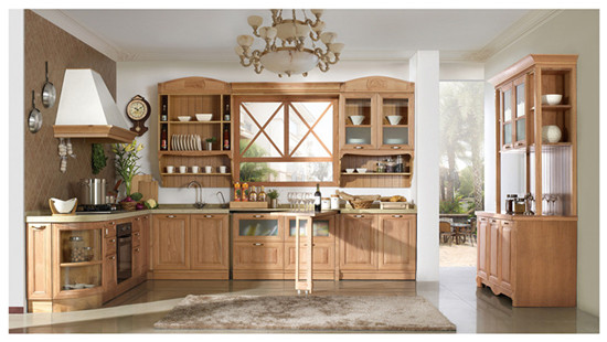 China Kitchen Cabinets Solid Wood