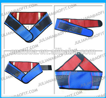 China Manufacturer Far Infrared Tourmaline Magnetic Lumbar Belt With Lower Back Supports