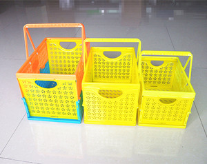 China Plastic Folding Basket Wholesale Size H19cm