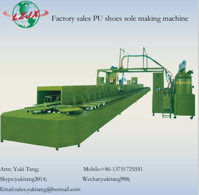China Pu Shoe Sole Pouring Machine With Productions Line